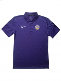Nike LSU Men's Dri-Fit 125 Seasons Polo - Purple