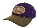 LSU Felt Patch Adjustable Relaxed Fit Hat - Purple and Brown
