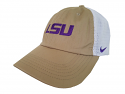 Nike LSU H86 Adjustable Trucker Hat - Khaki & White