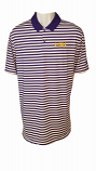 Nike Golf Men's LSU Victory Dri-Fit Purple & White Striped Polo