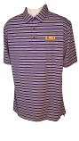 LSU Men's Columbia Members Purple Stripe Omni-Wick Polo