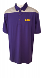 LSU Men's Columbia Golf Purple & Grey Omni-Wick Utility Polo