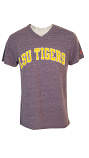 LSU Tigers Men's Purple Heather Twisted Tri Blend Classic Fit Tee