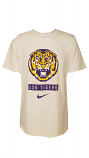 Nike BCS LSU Men's White Retro Tiger Dri-Fit Cotton Tee