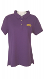 LSU Women's Cutter & Buck Purple DryTec Cotton Polo - large only