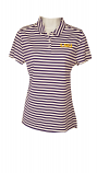 LSU Nike Golf Women's Purple & White Striped Victory Dri-Fit Polo