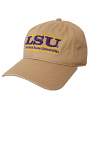 LSU The Game Khaki Classic Bar Design Relaxed Fit Cap