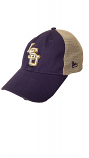 LSU New Era Purple & Tan Stated Back 9Twenty Adjustable Mesh Cap