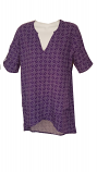Game Day Women's Purple Print Boutique Wrap Top