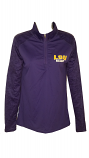 LSU Women's Purple Tonal Blend Sport Long Sleeve 1/4 Zip Pullover Top