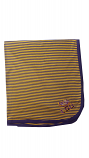 LSU Purple & Gold Striped Baby Blanket
