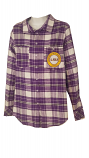 LSU Women's Purple & White Plaid Flannel Shirt