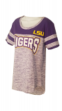 LSU Women's Purple Bling Football Jersey Tee