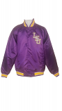 LSU Men's Purple Satin Franchise Baseball Jacket