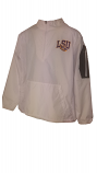 LSU Men's White Windbreaker Pullover