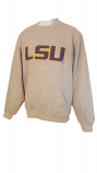 LSU Men's Grey Pocket Crew Sweat Shirt