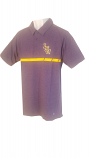 LSU Men's Purple Tri Blend Interlocking LSU Logo Polo