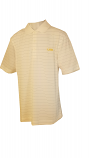 LSU Men's Cutter & Buck White Stripe DryTec Polo
