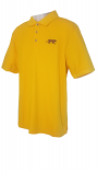 LSU Men's Gold Cutter & Buck Advant DryTec Cotton Plus Polo