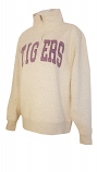 LSU Women's Grey Half Zip Sweat Top