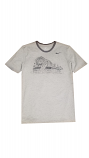 Nike LSU Grey Retro Stadium Cotton Ringer Tee