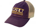 LSU The Game Purple & Stone Classic Bar Design Snap Back Mesh Hat