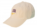Nike LSU White Heritage86 DriFIT Unisex Relaxed Adjustable Football Hat