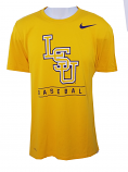 Nike LSU Men's Gold Dri-FIT Performance Baseball Tee