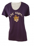 LSU Women's 47 Brand Purple College Vault Distressed Beanie Tiger Top
