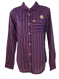 LSU Women's Columbia Striped Sun Drifter Long Sleeve Performance Shirt