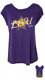 Colosseum LSU Women's Purple & Grey Star Top