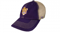 47 Brand LSU Purple & Beige Beanie Tiger Clean Up Trucker Hat