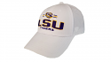 Top of the World LSU White On Deck Structured Snap Back Hat