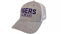 Top of the World LSU Grey & White Structured Mesh Snap Back Hat