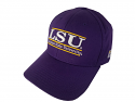 The Game LSU Purple Classic Bar Design Stretch Fit Cap