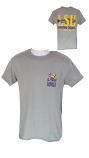 LSU Men's Grey LSU Tigers I'm Hooked Fishing and Football T-Shirt
