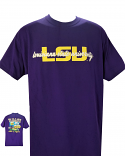 LSU Adult Purple Tailgate Camper Cotton T-Shirt