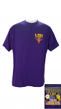 LSU Tigers Purple Tigers VS Longhorns Helmet Rivalry Official Game Day T-Shirt