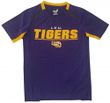 LSU Youth Purple Static Polyester Tee