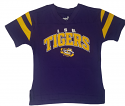 LSU Child Purple Vintage Football V-Neck Tee