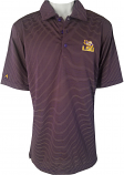Antigua LSU Men's Purple & Gold Striped Quest Performance Polo
