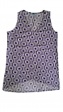Game Day Women's Purple & White Eleanor V-Neck Sleeveless Top