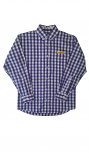 LSU Child & Youth Purple & White Gingham Long Sleeve Button Up Shirt