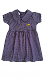 LSU Girl's Toddler Purple & White Peter Pan Collar Pin Dot Dress