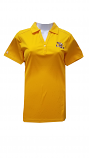 Antigua LSU Women's Gold Tribute Split V-Neck Performance Polo
