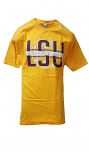 Bayou LSU Men's Gold Cotton Football T-Shirt