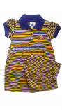 LSU Tigers INFANT Purple and Gold Stripe Game Day Polo Dress and Bloomer Set