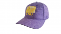 LSU Heather Purple Ahead Extreme Fit Adjustable American Flag Hat