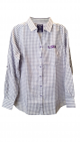 Antigua LSU Women's Purple & White Structure Button Up Shirt