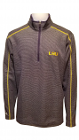LSU Men's Purple & Grey Stripe Brawn Half Zip Pullover Jacket